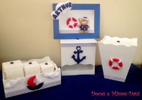 Kit Higiene MDF marinheiro