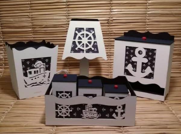 Lindo Kit Higiene MDF marinheiro