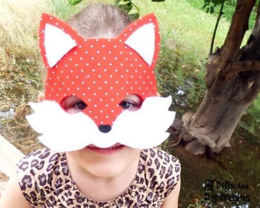 Máscara infantil criativa