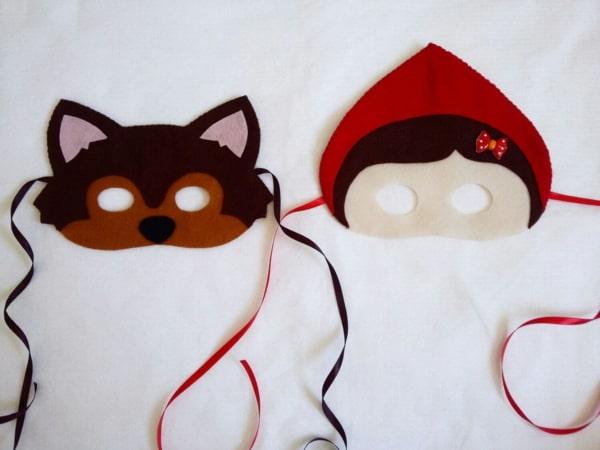 Máscara simples infantis de Carnaval