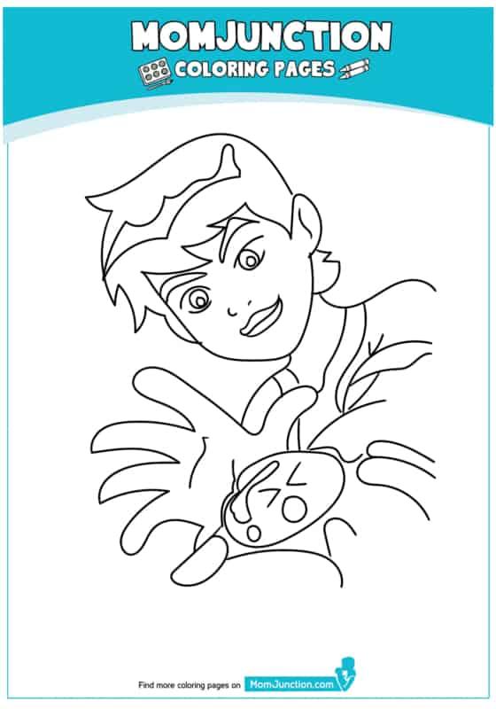 ben 10 desenho para pintar