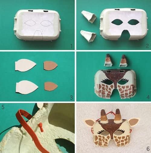 como fazer máscara de Carnaval infantil