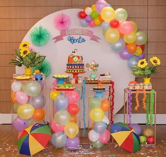 decoração de bailinho de carnaval