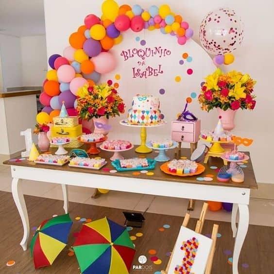decoração de carnaval para festa de 1 ano