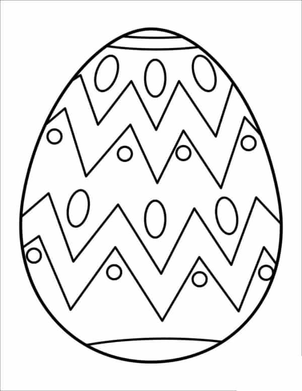 desenho de ovo de Páscoa com listras