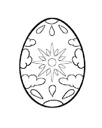 desenho de ovo de Páscoa com sol