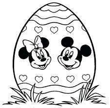 desenho de ovo de Páscoa da minnie