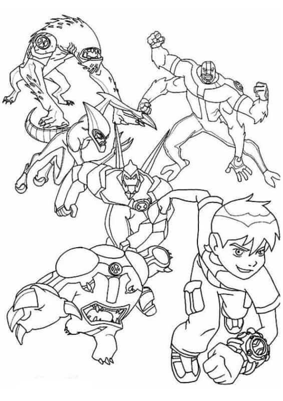 Ben 10 Para Colorir 30 Desenhos Para Imprimir Gratuitamente