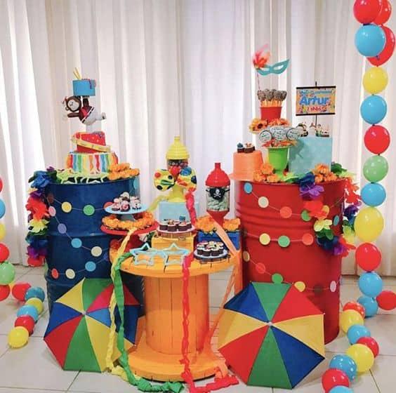 festa de carnaval infantil ideias de decoração