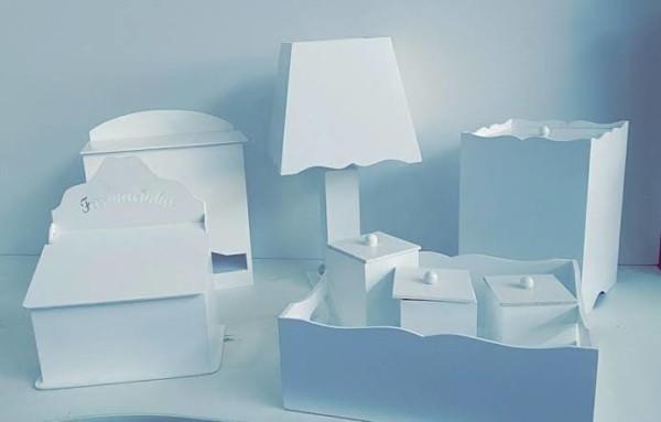 ideia de Kit Higiene MDF Branco