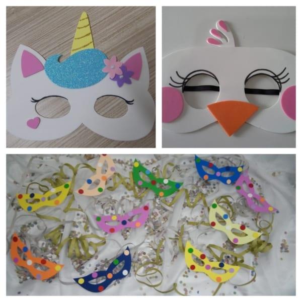 máscara infantil EVA ideias