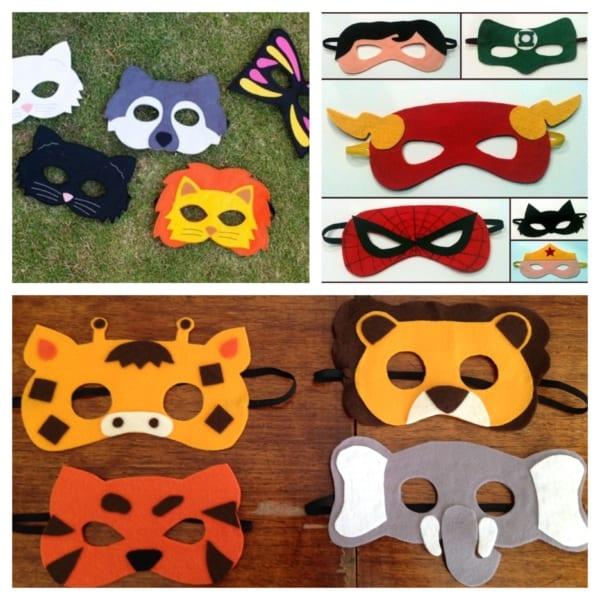 máscara infantil de Carnaval