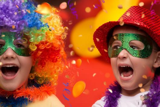 máscara simples de carnaval