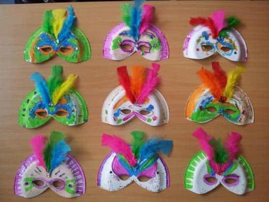 máscaras de carnaval criativas