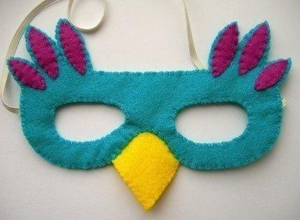 mascara simples de ave