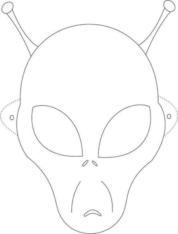 molde de máscara de Carnaval infantil alien