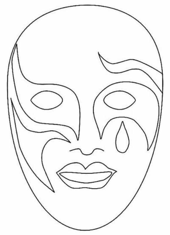 molde de máscara de Carnaval infantil grande ideias