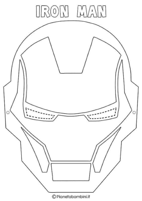 molde de máscara de Carnaval infantil iron man