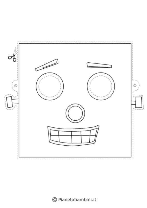 molde de máscara de Carnaval infantil robô