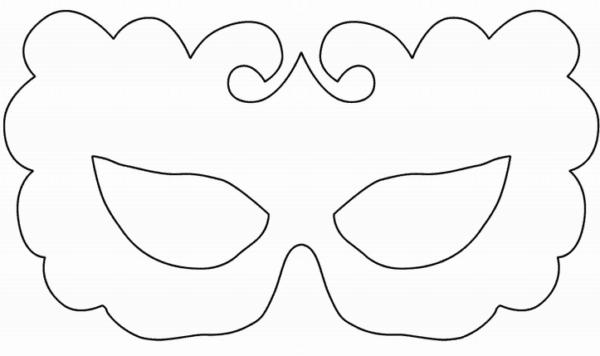molde de máscara de Carnaval infantil simples