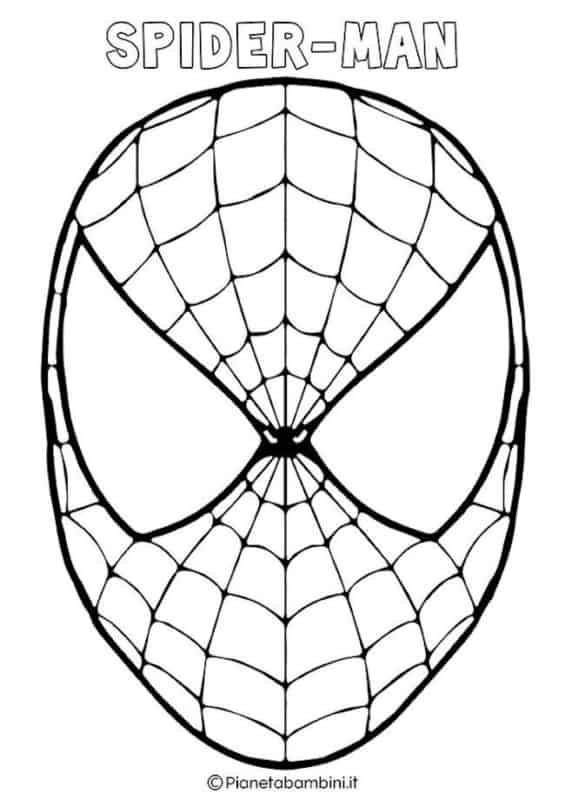 molde de máscara de Carnaval infantil spider man