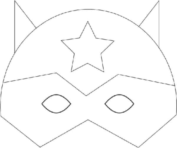 molde de máscara de Carnaval infantil super heroi