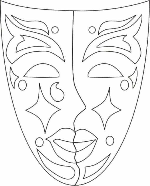 molde de máscara de Carnaval infantil veneza