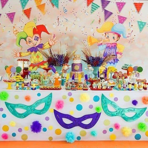painel de festa de carnaval