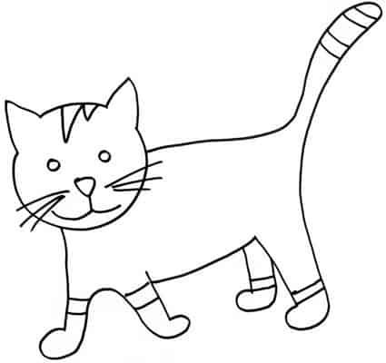 desenho de gato simples e fácil