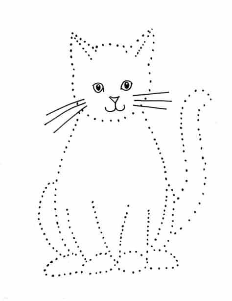 desenho de gato para imprimir e desenhar