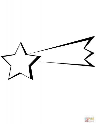 estrela cadente para imprimir e pintar