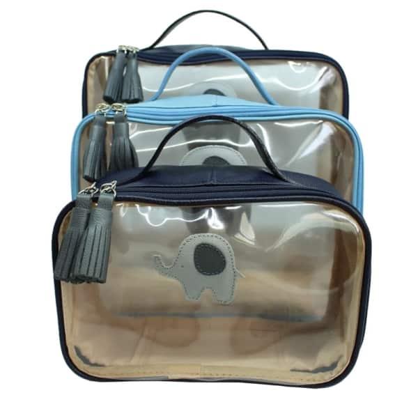 kit de nécessaire para viagem infantil