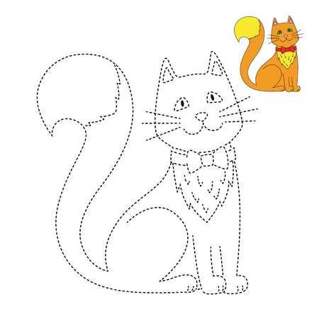 passo a passo desenho de gato com liga pontos