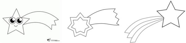 Desenhos de estrela cadente para colorir
