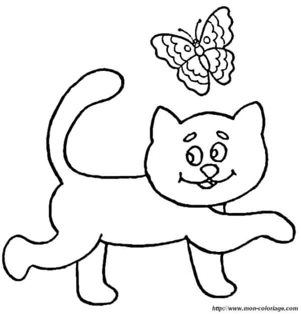 desenho de gato simples e rápido