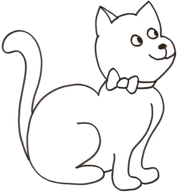 desenho de gato para criança