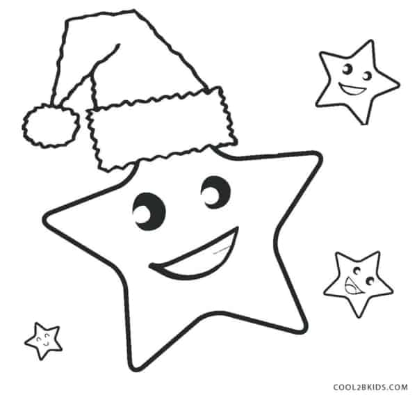 estrelas de natal para pintar