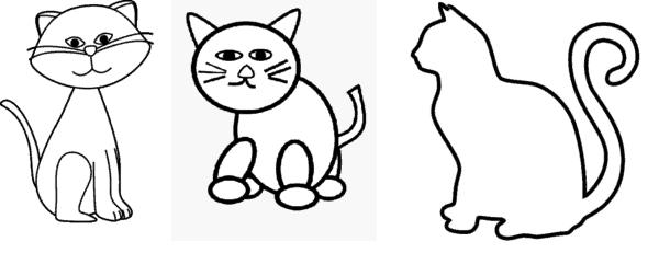 como desenhar gato simples
