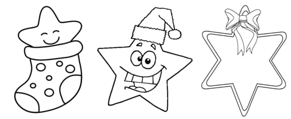 Desenhos de estrela de natal para colorir