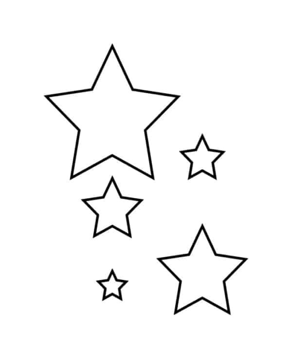 estrelas pequenas para pintar