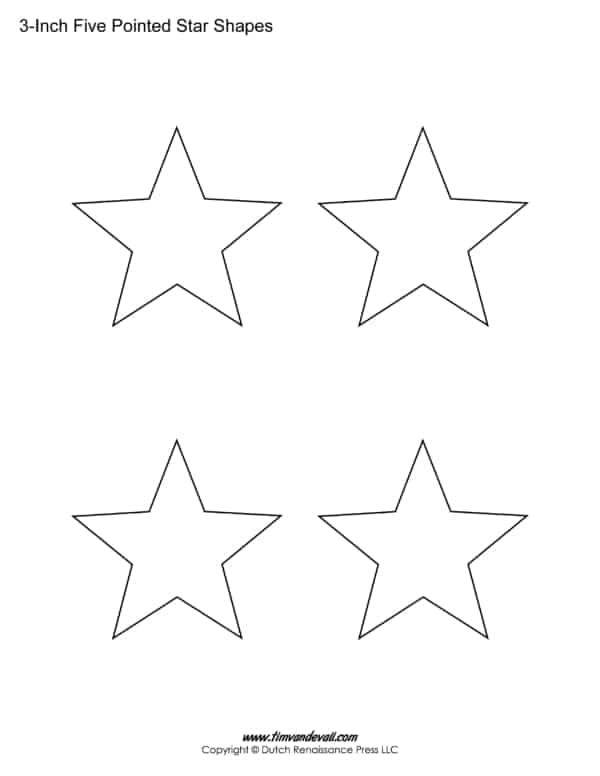 estrelas simples e pequenas para imprimir