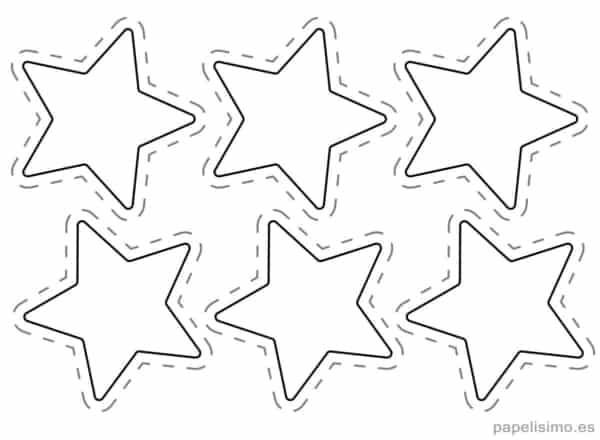 estrelas pequenas para cortar