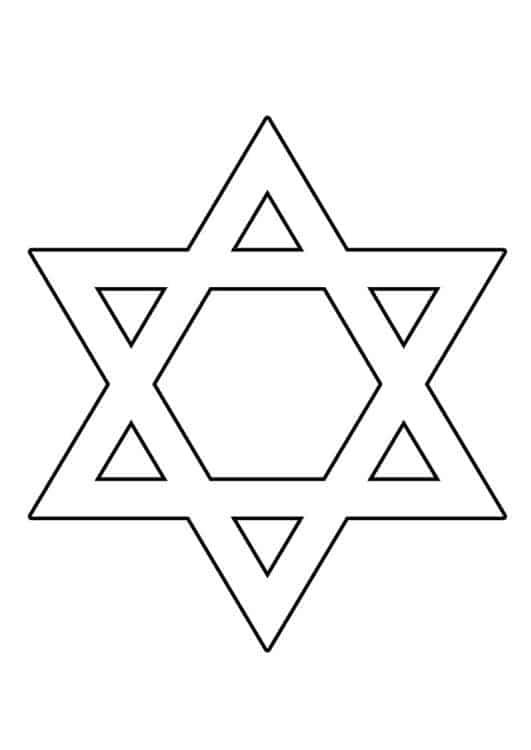 estrela de Davi para pintar