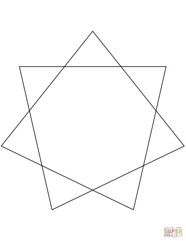 estrela de 7 pontas simples