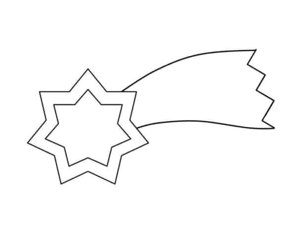 estrela cadente de 6 pontas