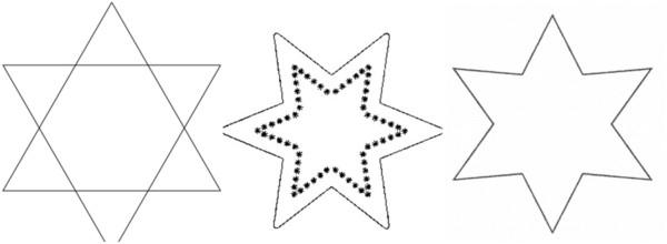 estrela de 6 pontas para colorir