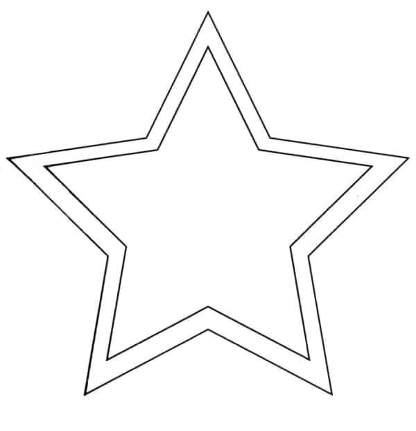 molde de estrela para imprimir e colorir