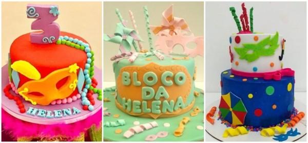 bolo de mesversário de carnaval de pasta americana