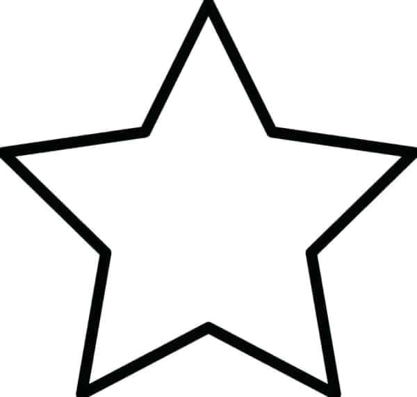 estrela simples para pintar