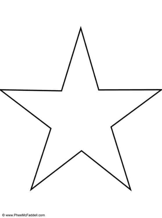 modelo de estrela simples para imprimir